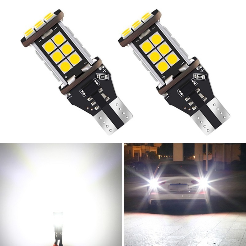 2x CAN-bus Error Free 921 T15 W16W LED Bulbs For Audi BMW <font><b>Mercedes</b></font> Porsche Volkswagen Car Backup Reverse Lights Xenon White 12V image