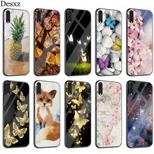 Colored Sea Case Glass For Huawei P30 P10 P20 P Smart Mate 20 Pro Lite Y6 Y9 Honor 7A 8X 9 10 Cover(China)