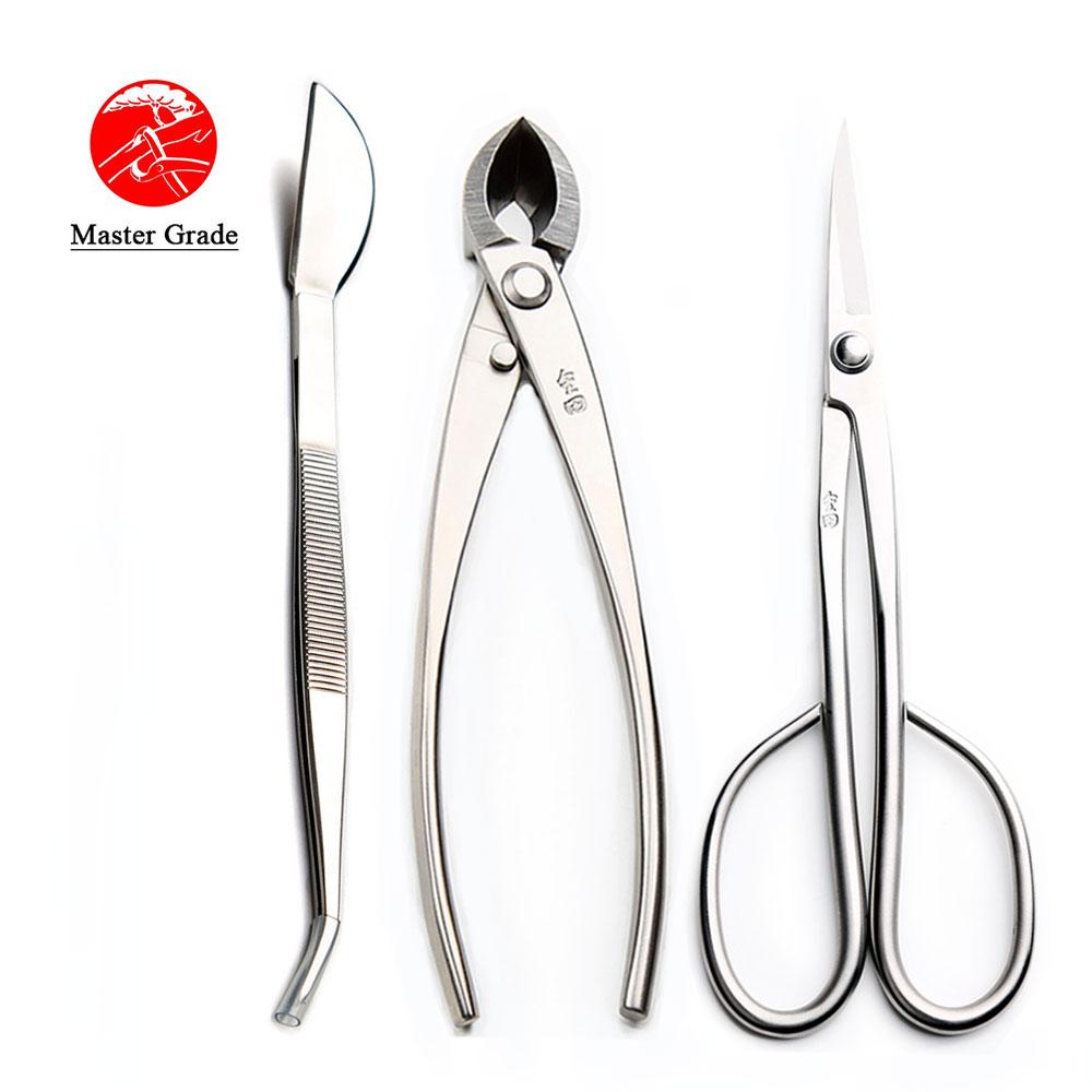 3 PCS Bonsai Tool Set JTTK-11 Long Handle Scissors / Branch Cutter / Bonsai Tweezers Master Grade Bonsai Tools Excellent Quailty