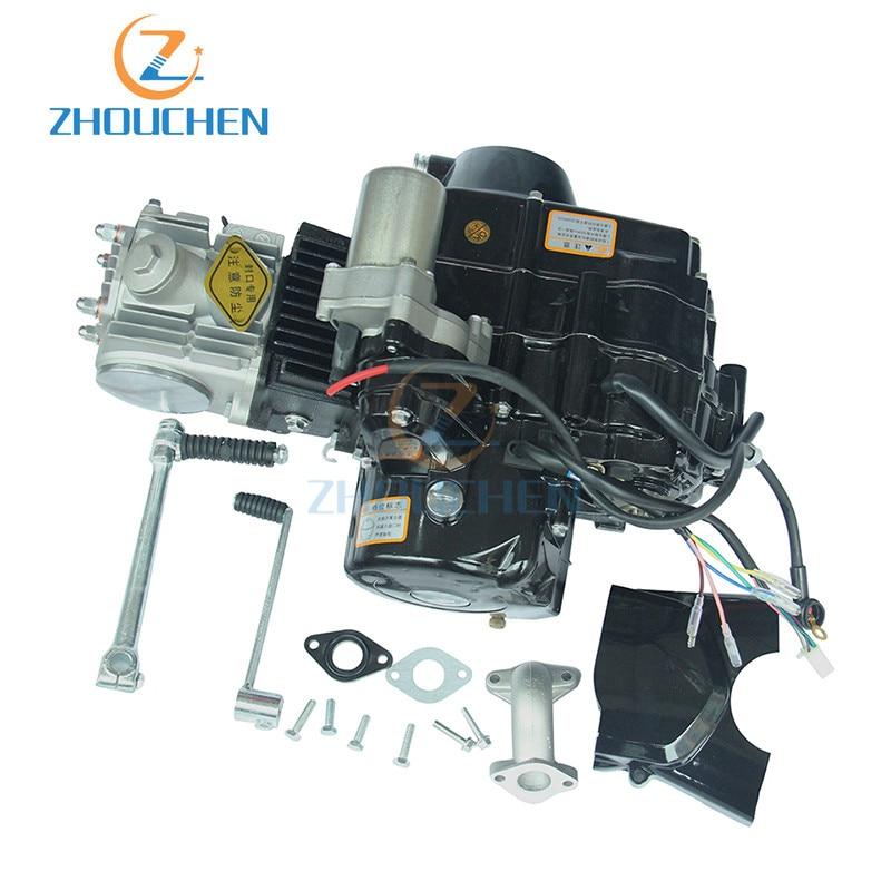 Mini Motor terenowy 110cc elektryczne stóp uruchomić silnik wysokowydajny aluminiowy motocykl silników dla Mini Motor terenowy