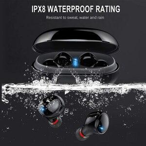 Image 4 - אמיתי אלחוטי Bluetooth אוזניות IPX8 עמיד למים אלחוטי Bluetooth אוזניות אוטומטי זיווג HD קול אוזניות 3500mAh תשלום תיבה