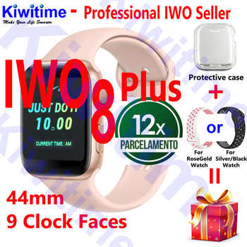 KIWITIME IWO 8 PLUS 44mm Watch 4 Heart Rate Smart Watch case for apple iPhone Android phone IWO 5 6 9 10 upgrade NOT apple watch - DISCOUNT ITEM  32% OFF All Category