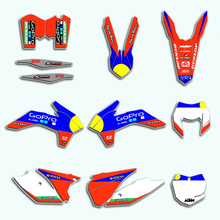 Custom Team Graphics Stickers Decals  Kits For KTM EXC XCF XCW 125 150 200 250 300 350 400 450 525 2014 2015 2016 XC-F XC-W motorcycle graphics stickers decals for ktm sxf mxc xc sx exc 125 200 250 300 350 400 450 525 2005 2006 2007