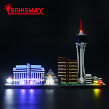 BriksMax Led Light Up Kit For Architecture Las Vegas Building Blocks Compatible With 21047 (NOT Include Model)