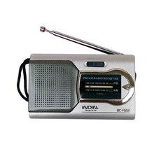INDIN BC-R22 AM/FM Dual Band mini radio odbiornik przenośny odtwarzacz wbudowany głośnik z standardowe 3.5MM gniazdo słuchawkowe