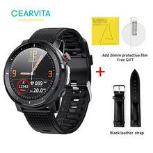 Gearvita l15 relógio inteligente homem ip68 à prova dip68 água smartwatch inteligente controle remoto ecg ppg pressão arterial freqüência cardíaca esporte fitness l16
