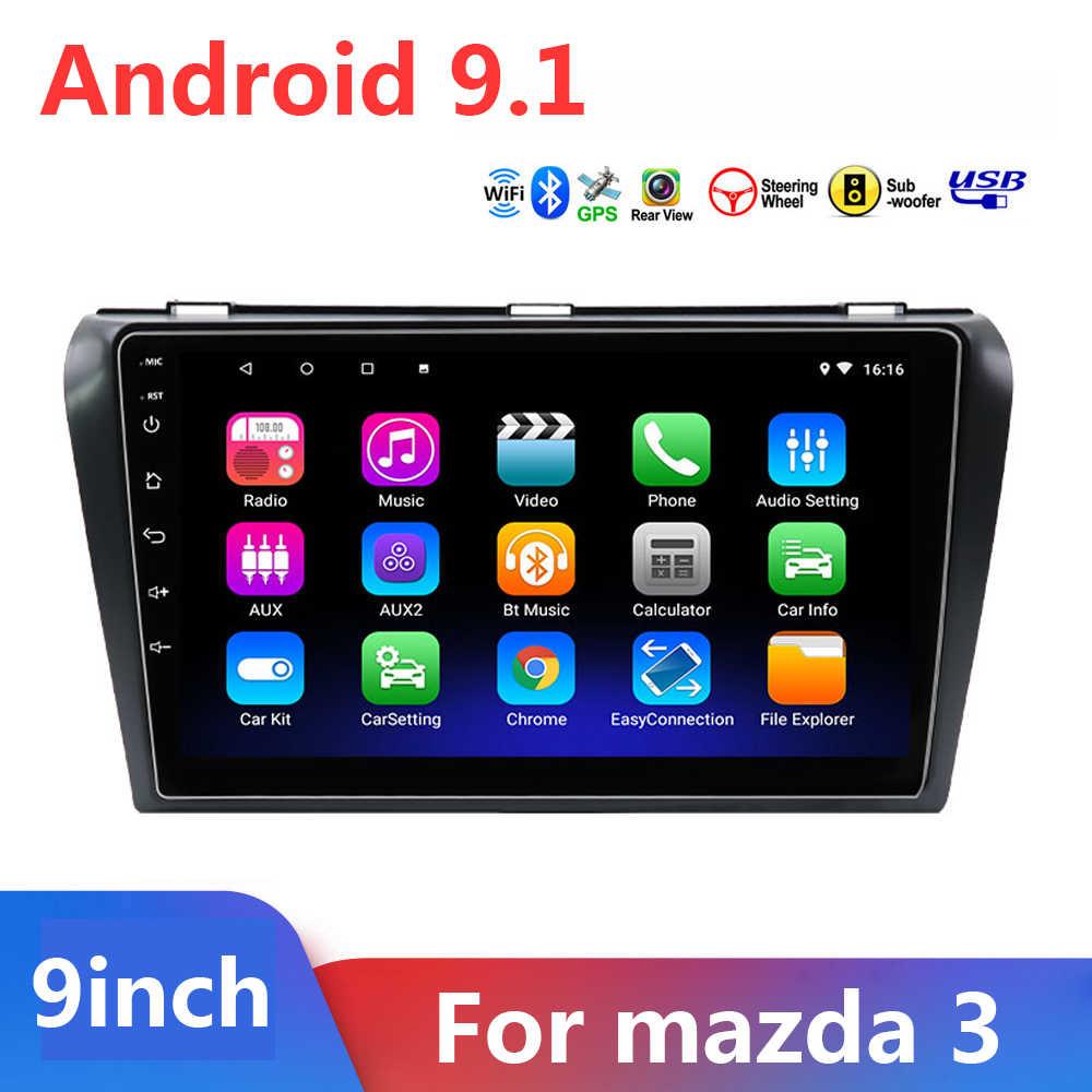 9 นิ้ว 2 DIN Android 9.1 เครื่องเล่นมัลติมีเดียสำหรับ Mazda3 MAZDA 3 2004-2012 วิทยุอัตโนมัติ 2DIN GPS นำทาง FM กล้อง DVR OBD