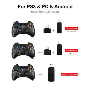 Image 4 - 2.4G Wireless ESM 9013 Gamepad Game joystick Controller Fit for PC Windows For PS3 TV Box Android Smartphone