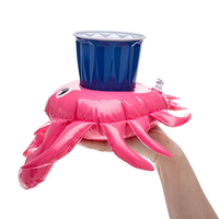 Sommer Wasser Sport Krabben Aufblasbare Pool Trinken Halter Float Schwimm Premium Krabben Tasse Perfekte Wasser Aufblasbare Tasse Halter