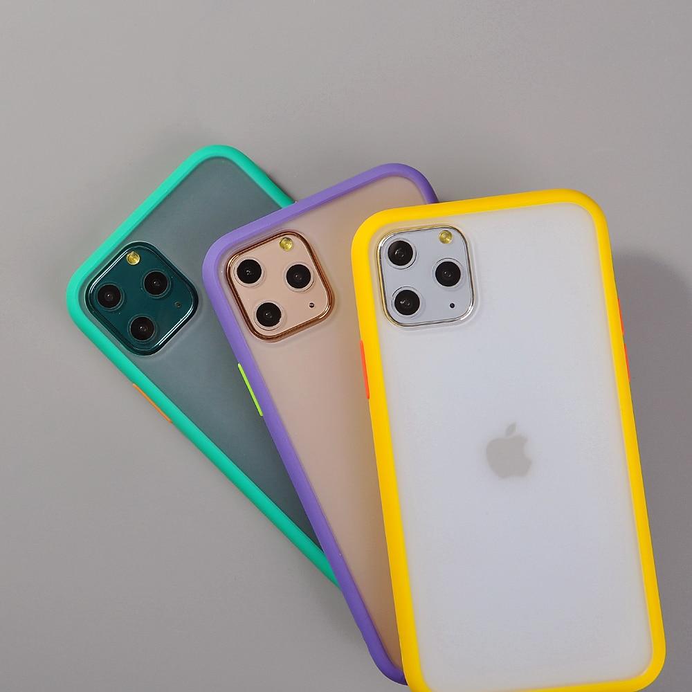 Hybrid Simple Matte Bumper Phone Case for iPhone 11 Pro Max Xr Xs Max 6s 8 7 Plus 2