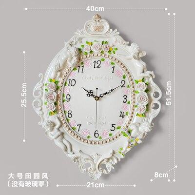 European style creative wall clock living room mute clock bedroom decorative wall watch individual fashion clock art quartz cloc