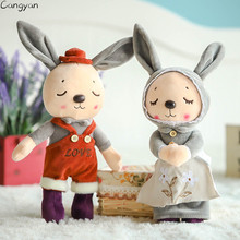 Cute couple rabbit plush doll children toys pillow girls ragdoll creative gifts soft toys children like ragdoll