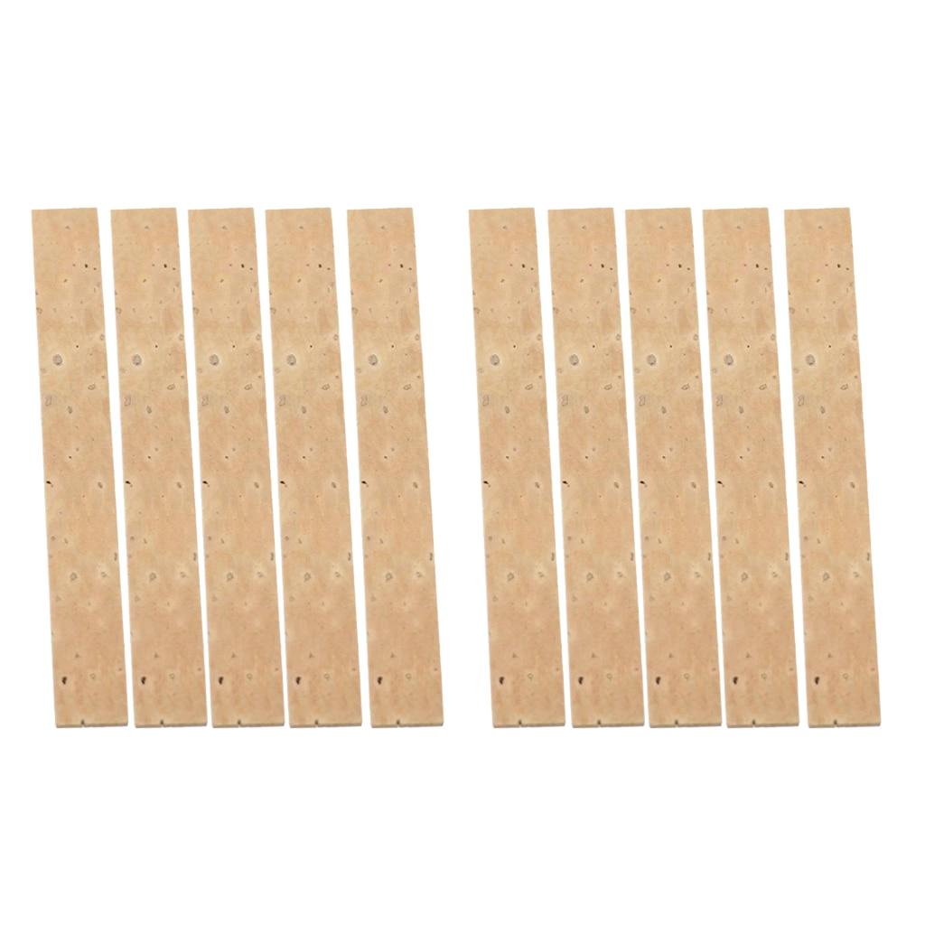 10pcs Natural Clarinet Neck Cork Sheet 4mm Clarinet Joint Cork Clarinet Neck