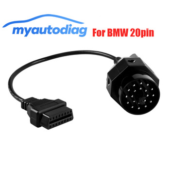 Poromotion OBD ODB2 For BMW 20pin OBD II Adapter For BMW 20 Pin To OBD2 16 PIN Female Connector E36 E39 X5 Z3 series For BMW image