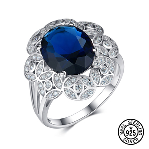 925 Sterling Silver Ring Clust