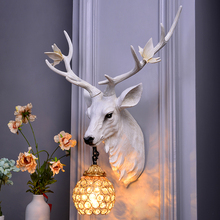 Nordic White Antler Wall Lamp Creative Deer Lamp for Living Room Wall Lamps Buckhorn Kitchen Indoor Home Decor Wall Sconce Lamp
