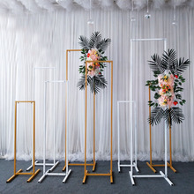 Wrought Iron Wedding Beveled Geometric Screen Shelf Stage Three-dimensional Flower Stand Decoration Background Arch