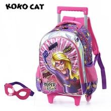 Купить с кэшбэком Cartoon Eva Kids Children School Backpack Beauty God Bags Girls Bookbag  School Backpacks for Teens Girls Student Schoolbag