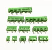 50 Uds por lote conector de Bloque de terminales de tornillo PCB Universal de paso de 2 54mm 2 pines 2 polos Conectores    -