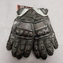 Dain 4 тактные EVO перчатки мотоциклетные кожаные красные черные перчатки