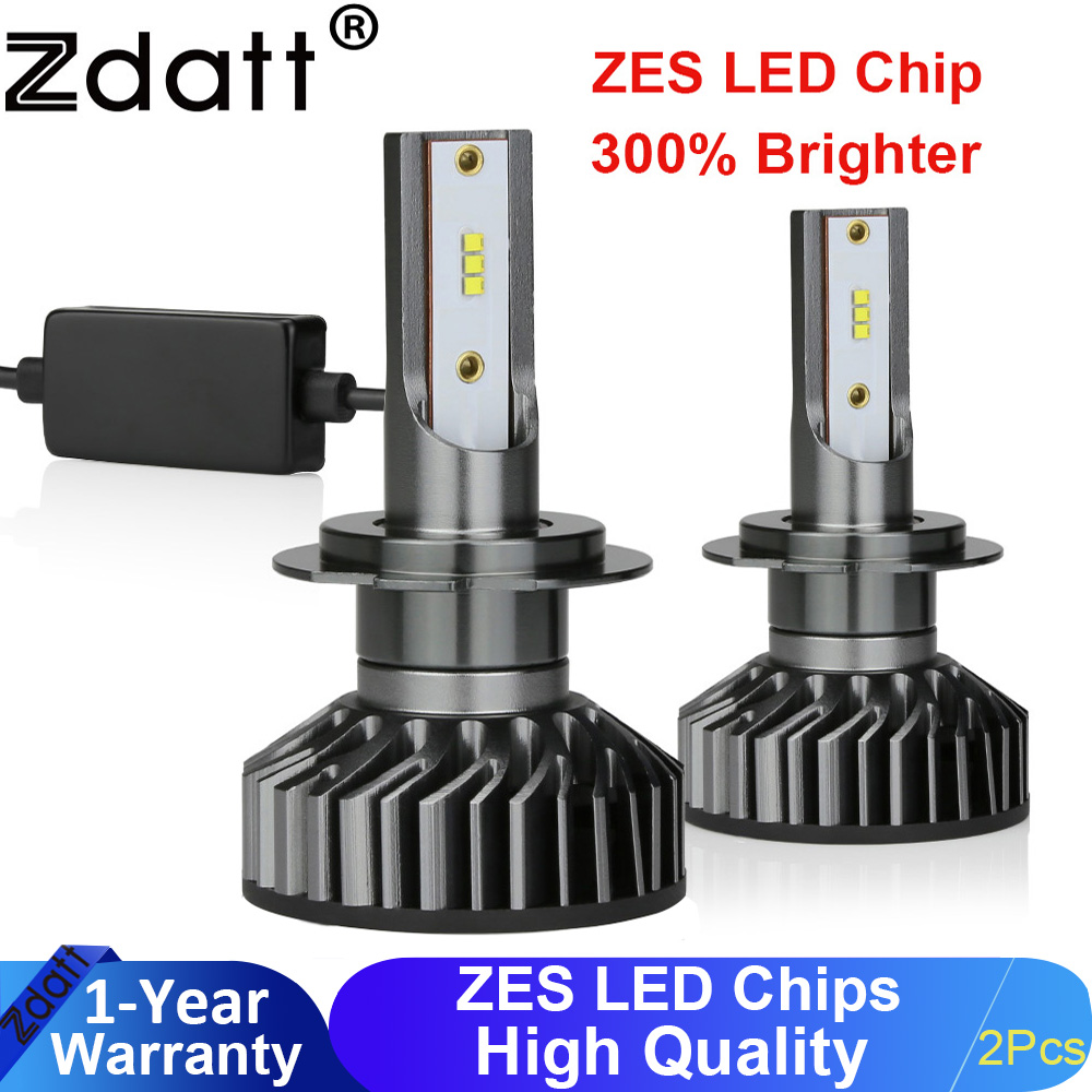 Zdatt H7 H4 H11 H1 LED Headlights Canbus Bulbs For Cars Lamp 9006 9005 HB3 12000LM 100W 6000K 12V 24V Auto Led Lamp Automobile