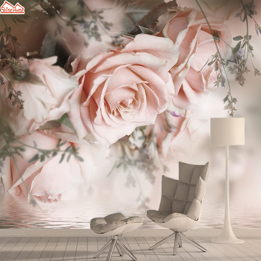 Wallpapers For Living Room Wallpaper 3d Photo Vinyl Wall Paper Papers Home Decor Floral Rose Nature Murals Roll Self Adhesive