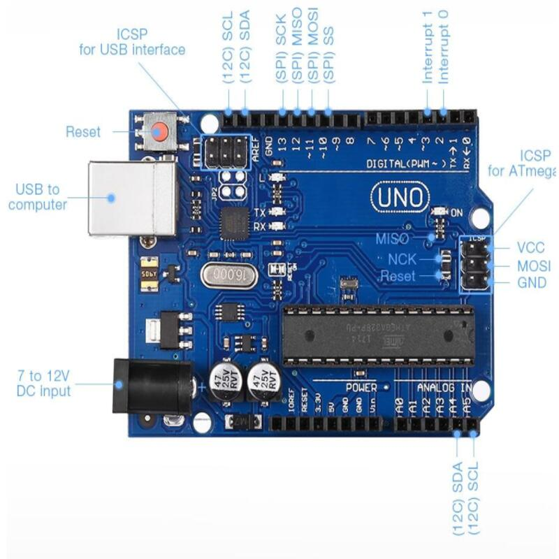 Microcontroller Upgraded Version Arduino R3 UNO R3 Development Board Starter Kit With Usb Cable