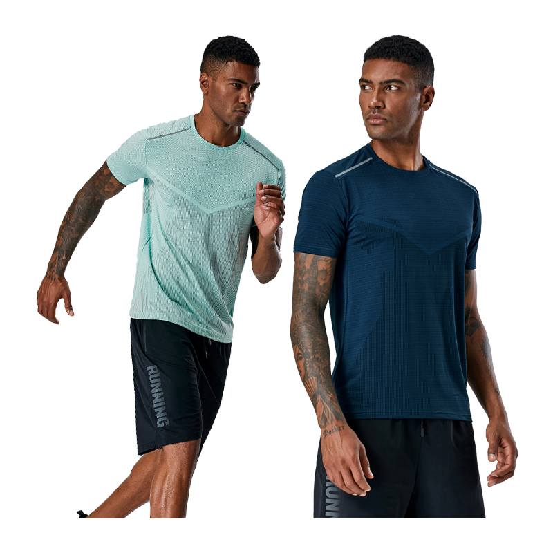Bodybuilding Short Sleeve O-neck Fitness Shirts Spandex Mens Training Workout Top Outdoor Slim Man Running T-shirt