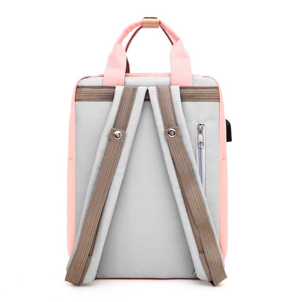 2019 新しい旅行女性 Bagpack 防水キャンバス大容量のバックパック 14 インチのラップトップバックパック女性のスクールバッグ