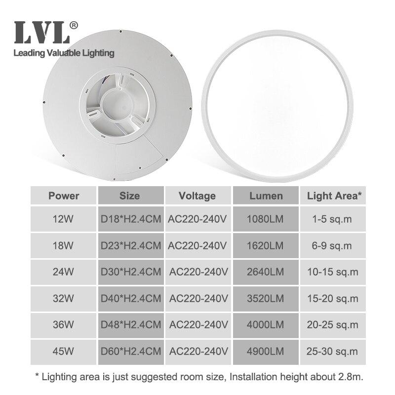 Led-deckenleuchte Dimmbare 12W 18W 24W 32W 220V Mit 3 Farbe Einstellbar Für Schlafzimmer wohnzimmer Bad Moderne Decken Lampe