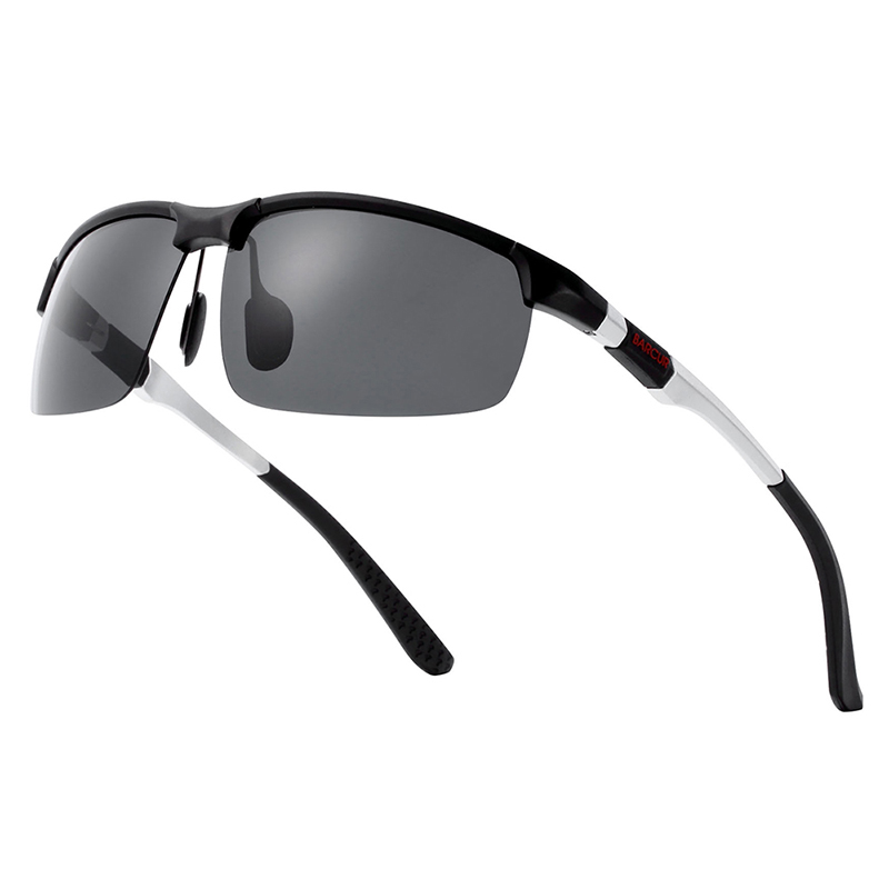 BARCUR Aluminium Magnisium Sport Sunglasses Polarized Light Weight Riding Driving Glases Men Women