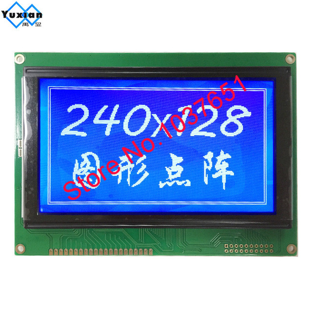 free ship 1pcs 5.1inch 240128  lcd display moudle blue  LCM240128A V3.0 T6963C UCI6963 144*104mm