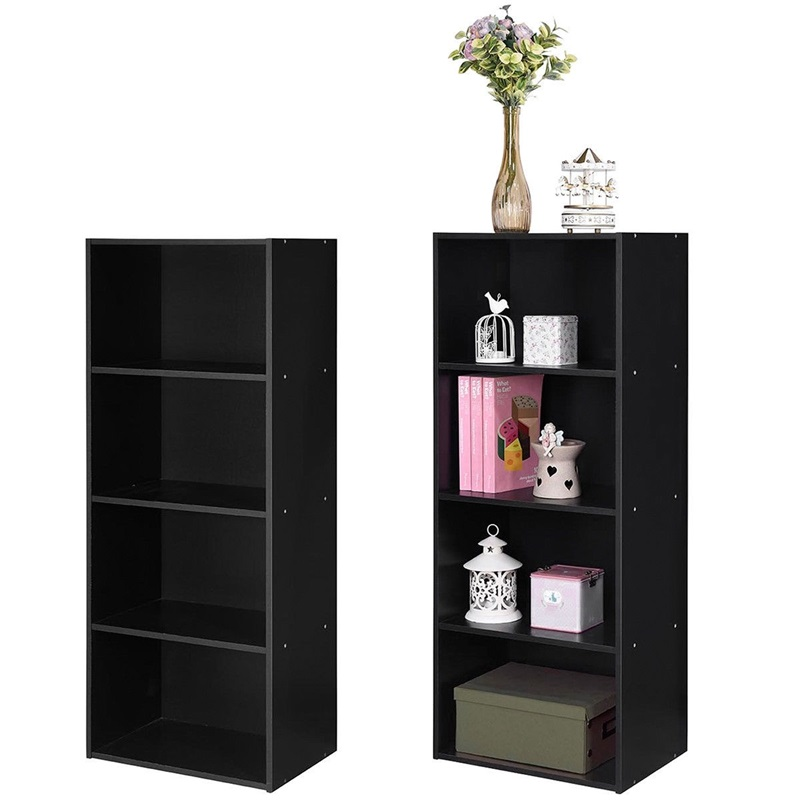 Modern Wood 4 Tier Open Book Shelf Bookshelf Bookcase Storage Display Cabinets For Home Furniture HW60187