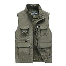 Men Vests Mens Sleeveless Vest Spring Summer Autumn Travels Vest Outdoors Plus Size 5XL 6XL 7XL Vest Photography Men's Clothing