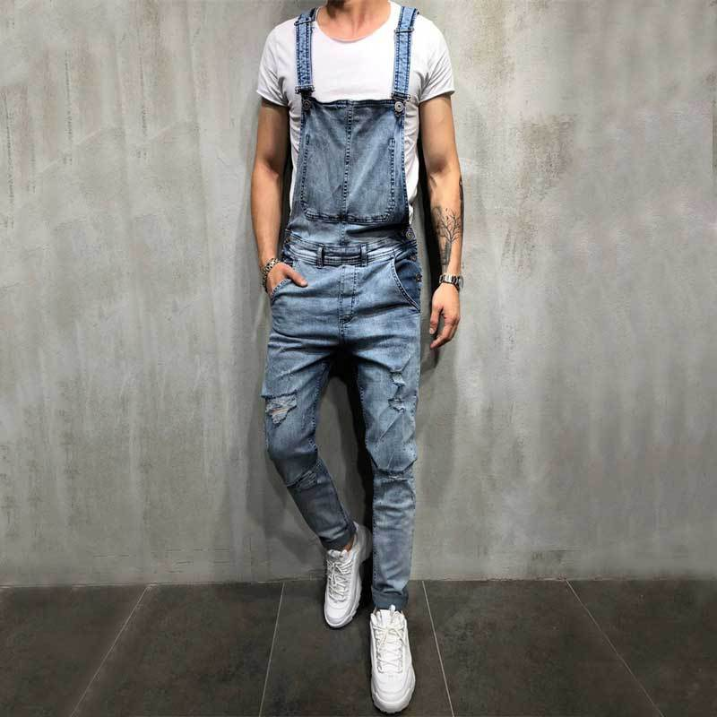 MEN'S Jeans New Style Men's Cowboy Suspender Strap With Holes Suspenders Large Size New Style Suspender Pants Hot Selling