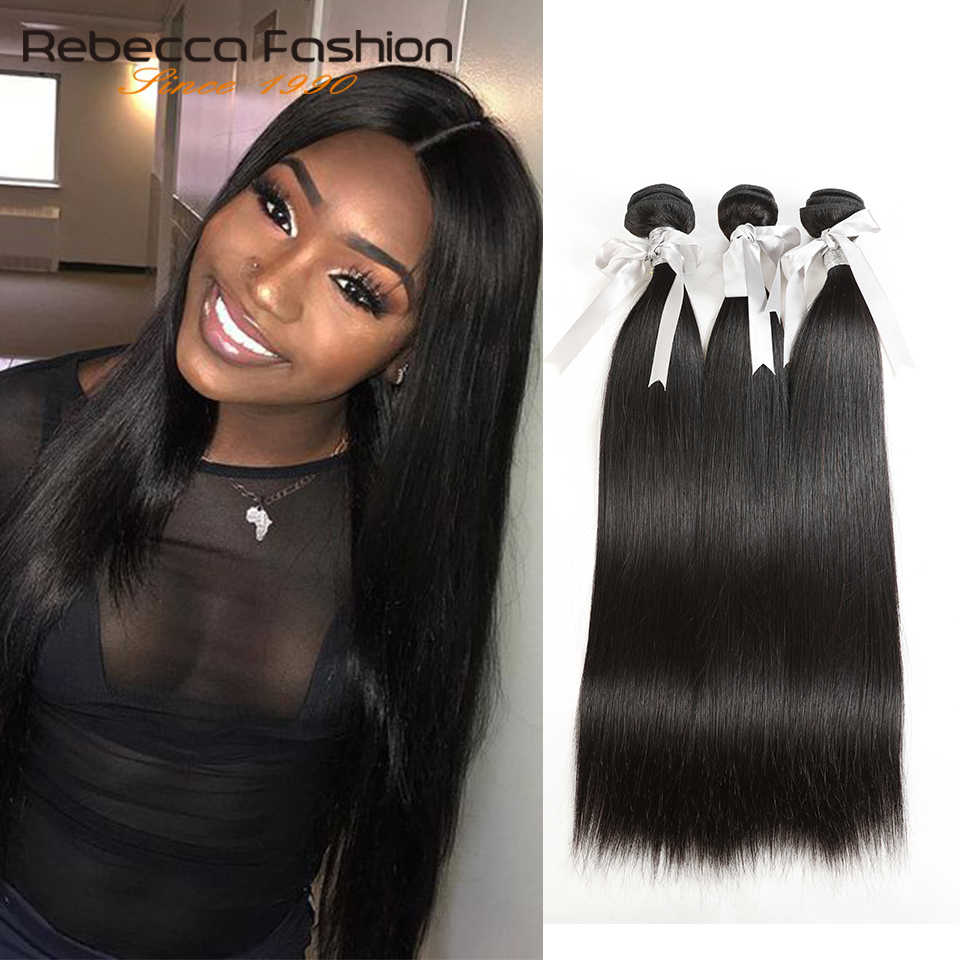 Rebecca Braziliaanse Hair Weave Bundels 1/3/4 Bundels Deals 100% Straight Menselijk Haar Bundels 8 Tot 28 Inch Remy hair Extensions