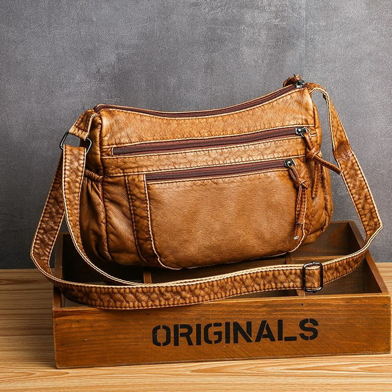 Moda para Bolsas de Luxo Couro do Plutônio Bolsa do Mensageiro Bolsas Femininas Designer Vintage Crossbody Preto Macio Lavado Aleta 2020 Mod. 160260