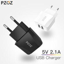 PZOZ Адаптер зарядного устройства с двойным Usb 2a 5v Портативное зарядное устройство для путешествий Usb Smart Mobile Phone Eu Plug для iphone ipad samsung Xiaomi 9