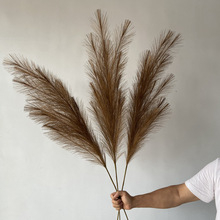 122cm Bulrush Artificial Pampas Grass Phragmites Plants Wedding Flower Bunch Decoration DIY Home Decor Fake Flowers Reeds Grass
