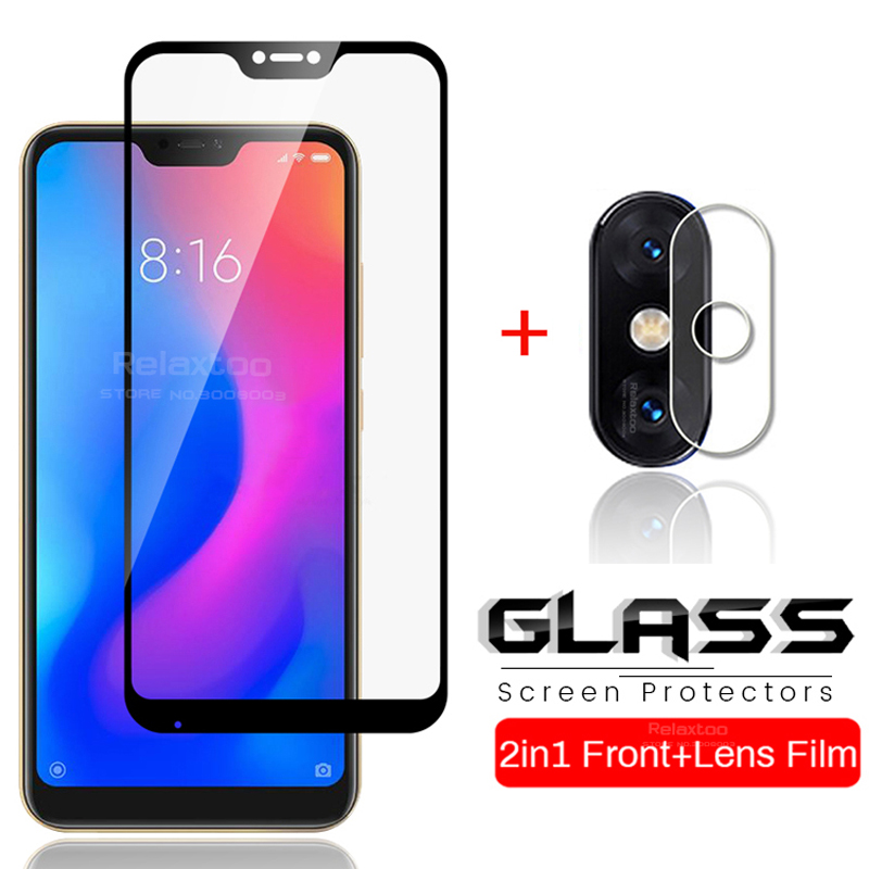 2-in-1 Protective Glass for <font><b>Xiaomi</b></font> <font><b>Mi</b></font> <font><b>A2</b></font> Lite Camera <font><b>Lens</b></font> Film Screen <font><b>Protector</b></font> On Xiomi MiA2 MiA2Lite <font><b>Mi</b></font> A 2 2A A2Lite Light image