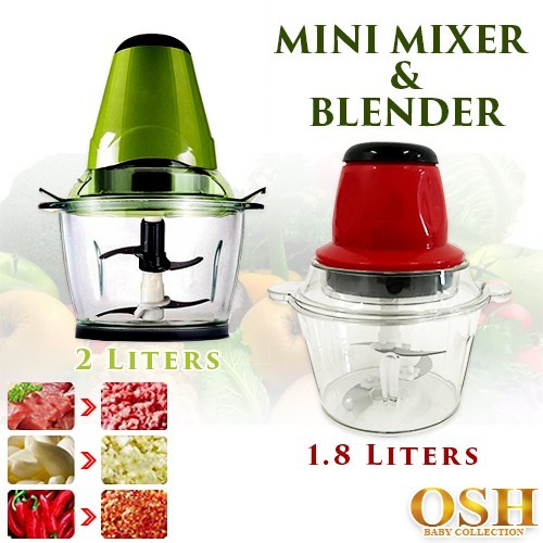 Portable Blender 2L Electric Kitchen Chopper Shredder Food Chopper Meat Grinder Multifunctional Household Food Processor Meat