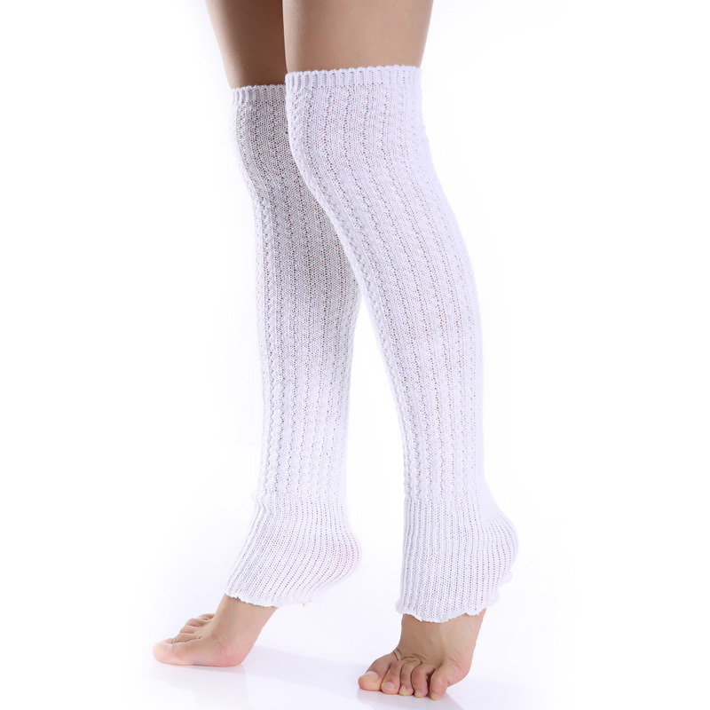 2019 New Knitting Wool Non-Slip Leggings Kneepad Socks Sleeve Elastic Knee Sleeve Leg Sleeves Calf Bands Leg Warmers Women