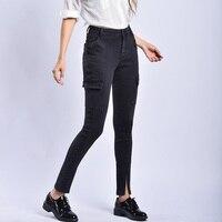 Streetwear Black Plus Size Boyfriend Jeans Skinny Push Up Woman High Waisted Denim Pants Fall 2019 New Sale Items Dropshipping