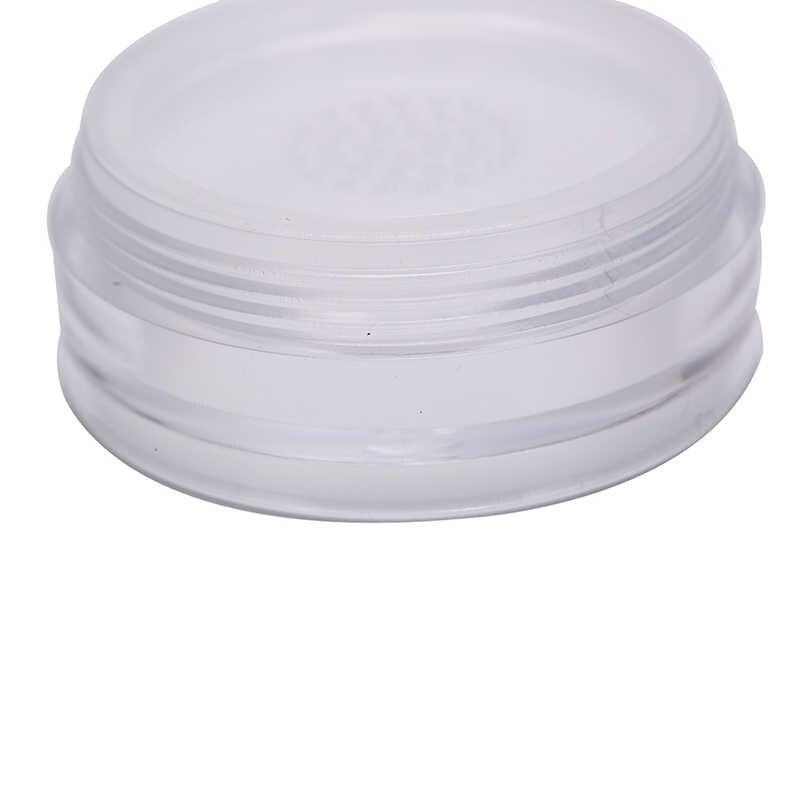 1pc 10g Tragbare Kunststoff Pulver Box Handheld Leer Lose Pulver Topf Mit Sieb Kosmetische Reise Make-Up Jar sichter container