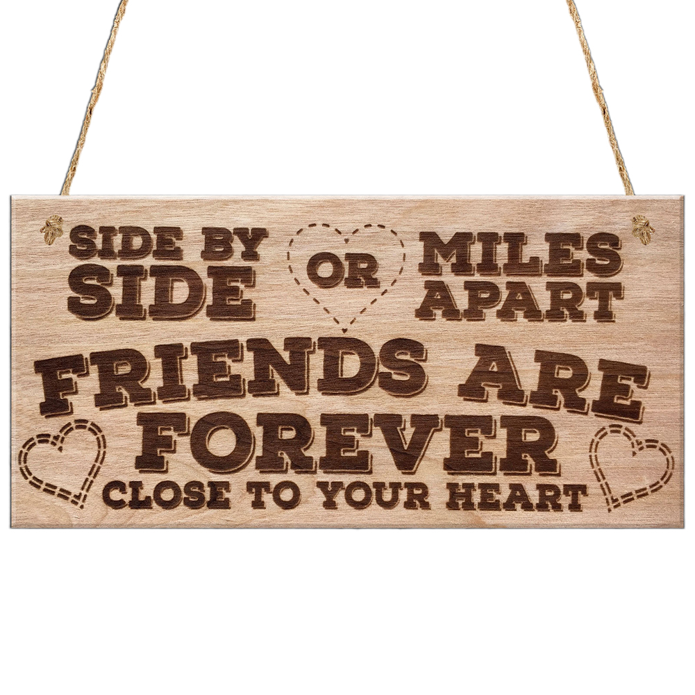 Best Friend Friendship Wooden Wall Door Hanging Decoration Plaque Gift Sign