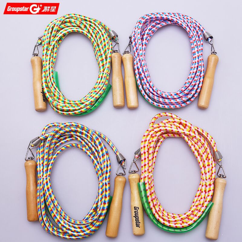 Production All Types Of Groups Jump Rope 8 M Long Jump Rope Multi-seat Jump School Jump Rope Students Jump Rope