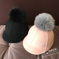 wool ms course baseball black cap equestrian pink cap hat really fox badminton is lovely