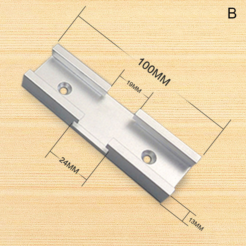 200mm Cross T-track Connector Set 30 Type T-slot Miter Track Jig Fixture Slot Connector DIN889