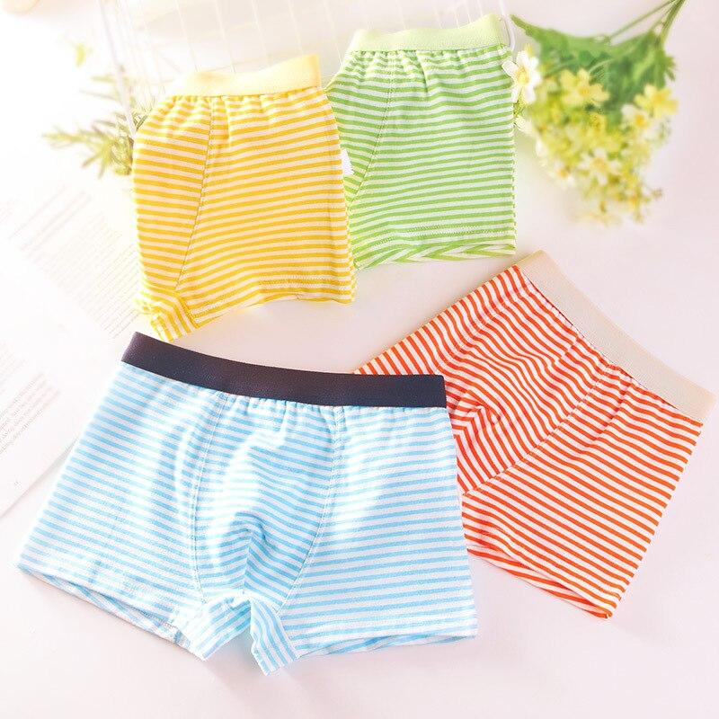 4pcs/Lot Boys Boxer Briefs Kids Cotton Underwear Baby Boy Underpants Teenager Cartoon Print Soft Children Panties 2-14T 2021 6