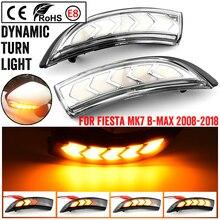 2 adet dinamik flaşör LED dönüş sinyal ışıkları yan ayna göstergesi Ford Fiesta için Mk7 2008 2017 Ford b max için 2012 2017